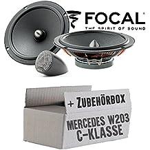 tomzz Audio 4034-002 Lautsprecher Einbau-Set passend f/ür Mercedes C-Klasse W203 S203 hintere T/ür 130mm Koaxial System