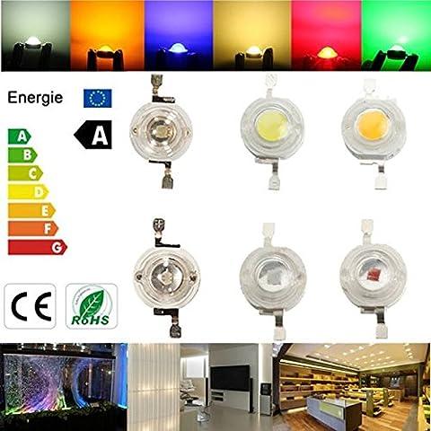 Bazaar Alto potere 3W LED circuito integrato della lampada luce fai da te perline blu rosso verde bianco caldo giallo