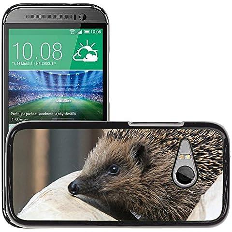 GoGoMobile Carcasa Funda Prima Delgada SLIM Casa Case Bandera Cover Shell para // M00125186 Spur Riccio animali a punta // HTC One Mini 2 / M8 MINI / (Not Fits M8)