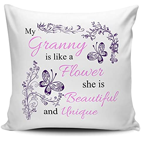 My del bebé para la abuela es como un diseño de funda para cojín de flores en interior y exterior/para invitaciones