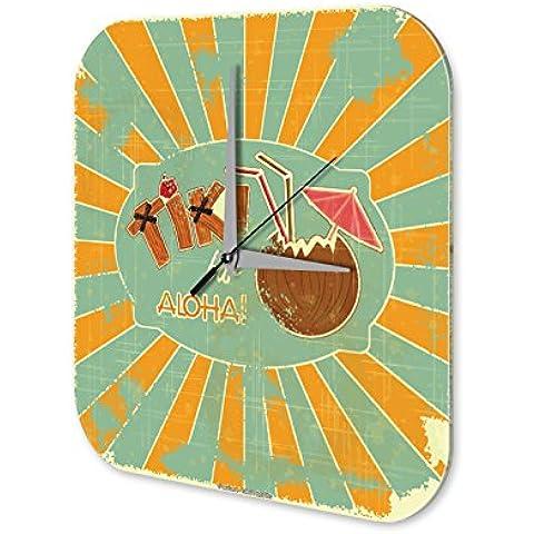 Orologio parete Vacanza Agenzia Di Viaggi Tiki Bar Plexiglas - Tiki Bar Della Decorazione Della Parete