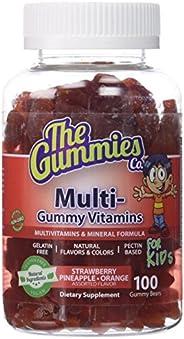 The Gummies Co. Multi Vitamins Strawberry Pineapple Orange Flavor