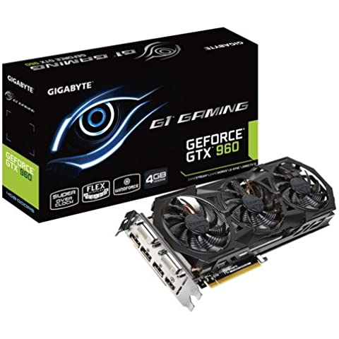 Gigabyte Geforce GTX 960 G1  GAMING - Tarjeta gráfica con 4 GB