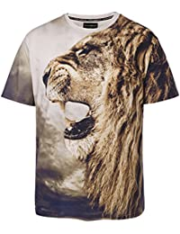 Yonbii cool les vêtements mode 3d pour lion occasionnel été t - shirt à manches courtes
