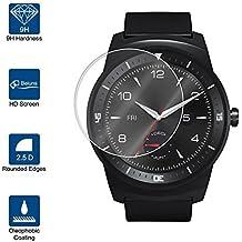 Beiuns Vidrio Templado Protector de Pantalla para LG G Watch R W110