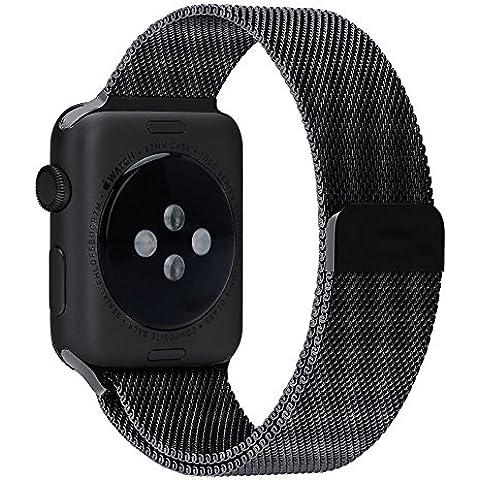 Apple Watch Banda, 42mm lamavido Con Cerradura Imán Único Correa de Acero Inoxidable Reemplazo de Banda de la Muñeca para Apple Watch Correa Todos los Modelos for iWatch Strap