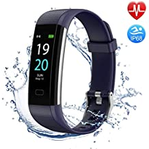 BUXAZ FIT 4 Smart Fitness Band, Sports Modes Activity Tracker, Step and Calorie Counter Smart Watch with Pedometer, Heart Rate Monitor for Men, Women