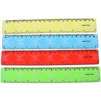 Lunji 1 UNID Suave Regla de 20 cm Flexible Papelería Creativa Regla de Suministro Escolar