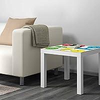 Vinilo para Mesa Ikea Lack Personalizada Juego Parchis clasico | Medidas 0,55 m x 0,55 m | Vinilo personalizado | Pegatina Decorativa de Diseño Elegante|