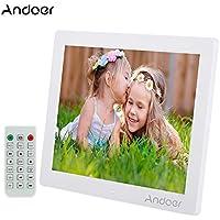 'Andoer 12HD LED Cornice Digitale 800* 600MP4MP3Movie Player per e-book-Orologio Calendario con Telecomando Regalo di Natale