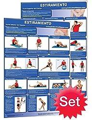 Estiramiento–Póster de étirements musculares/Chart Set (Spanish Edition)