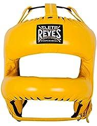 Cleto Reyes CE387A Protector de Cabeza Barra Nylon Rediseñada en Piel de Res, Unisex Adulto, Amarillo, Talla Única