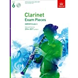 Clarinet Exam Pieces 2014-2017, Grade 6, Score, Part & 2 CDs: Selected from the 2014-2017 Syllabus (ABRSM Exam Pieces)