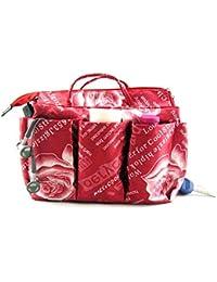 Periea Handbag Organiser LARGE 13 Compartments + FREE key clip, Red-Marina