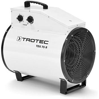 trotec elektroheizer tds 75 mit 15 kw heizl fter heizger t. Black Bedroom Furniture Sets. Home Design Ideas
