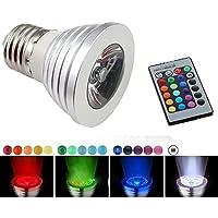 Aite feir 3W E2716colori LED RGB Magia punto lampadina a incandescenza proiettore telecomando senza fili 10pcs RGB