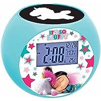 Gru: Mi Villano Favorito Blandito Radio Reloj Despertador con Proyector De Imagen, Color Azul (Lexibook RL975DES1)
