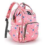 Bembika Diaper Bag Backpack for Mom Dad,Travel Rucksack Casual Daypack Maternity Nappy Bag