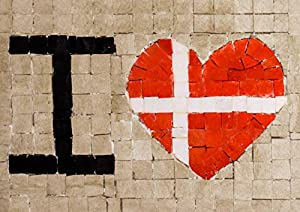 Trois petits points Juego de 3 pequeños Puntos de Mosaico Completo M Love Denmark-Maxi, 6192459601014, Universal