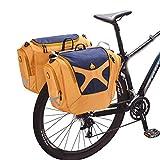 LYzpf 56L Posteriore Bicicletta Bici Bagagli Borse da Manubrio Borsa A Bauletto Impermeabile Ciclismo Carry Grande capacità Multifunzionale Sport all'Aria Accessori,Blue