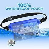 (2 Pack) Wasserdichte Tasche Beutel Handyhülle für Taille oder Schulter ideal zum Segeln, Wandern, Schwimmen, Angeln – sicherste Weg, Ihre Produkte trocken – 100% Garantie auf Lebenszeit - 9
