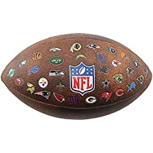 Wilson NFL All Team Logo - Balón de fútbol americano, color marrón, talla única