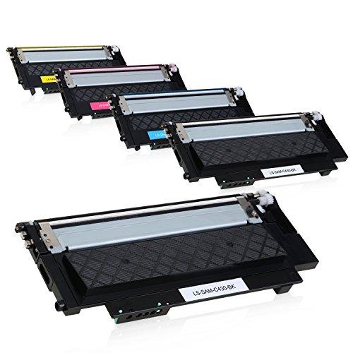 Preisvergleich Produktbild 5 Toner für Samsung Xpress C430W C480W Farblaserdrucker - CLT-P404C/ELS - Schwarz je 1500 Seiten, Color je 1000 Seiten