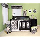 Best Seller Versailles Black & White 3PC Crib Bedding Set by Kitty4u by L.A.B.2