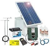 Solar Elektrozaun Komplett-Set: sofort startbereit inkl. 12V Weidezaungerät, Metallbox, 30W Solar Panel, Erdung, allen Kabeln, Prüfer, 80Ah Akku mit Säure & Diebstahlschutz zum Bestpreis