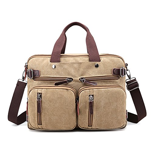 HT  Canvas Bag, Borsa Messenger  Uomo Brown
