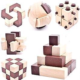 B&Julian – Set di 2 Puzzle 3D IQ, in Legno