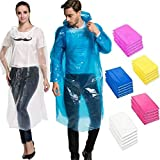LB Trading Einweg-Regen Regenponcho Regenjacke Regenmantel Poncho One Size Fit Alle mit Kapuze 5 pro Packung