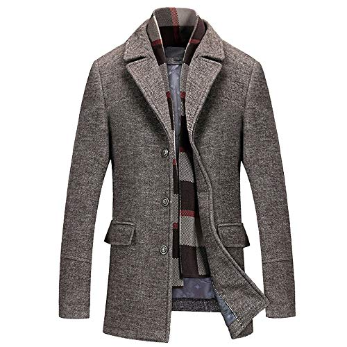 TWBB Herren warm Wollmantel Kurzmantel Winter Jacke Business