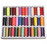 Gearmax® Hilos de Coser de Poliéster para Costura Conjunto de 39 Colores Bobinas Surtidas