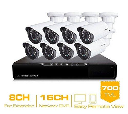 Gowe 16CH CCTV System HDMI DVR 8CCTV Kameras 700TVL IR wetterfest Sicherheit Kamera Home Security System Überwachung Kits (16 Ch Dvr-kit)