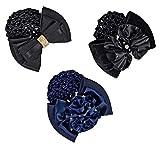 Equipage Haarspange mit Netz mit Strassklammer schwarz