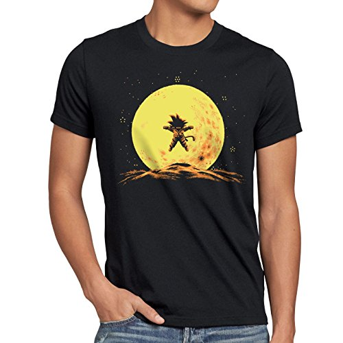 style3 Flying Goku T-Shirt Homme dragon songoku z goku anime ball japon, Size:M;Color:Black