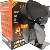 Stove Fan Silent Wood Burning Multi Fuel Better Efficiency 4 Blade Heat Powered