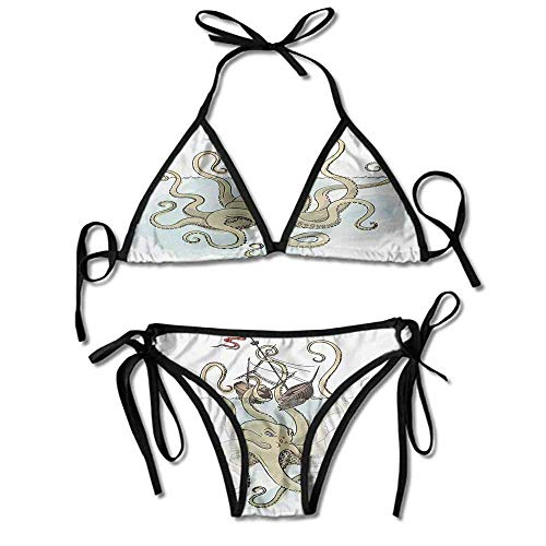 VVIANS Custom Swimsuit Tops for Women The Pirate Ships Greek Myth Printing Bikini