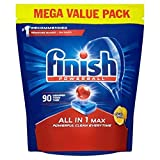 Image of Finish Dishwasher Tablets, All in 1 Max Lemon, 90-Count