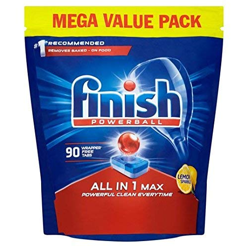 Finish All in 1 Max Dishwasher Tablets, Lemon Scent - 90 Tabs