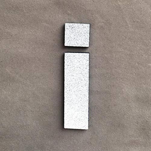 er Moderne Foam Letters Silber Alphabet Pegatinas De Pared DIY Hochzeit Geburtstag Partei Wohnkultur Aufkleber 17Dec8, I ()