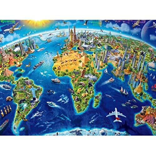 MAIYOUWENG Holzpuzzle 1000 Teile Fantastische Karte Hohe Qualität Große Größe 1000 Teile Holzpuzzle, Einzigartige Hauptdekorationen Und Geschenke (Puzzles Und Drachen-geschenk-karte)
