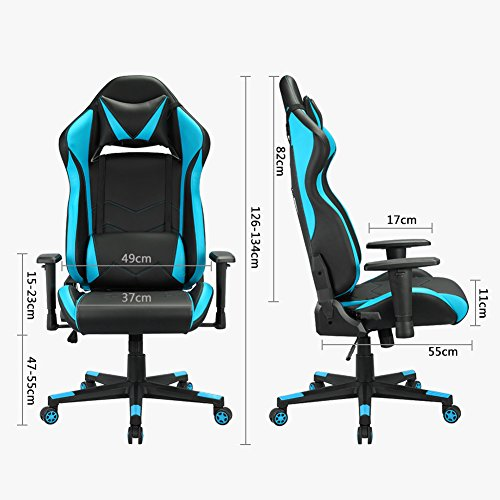 Racing gaming silla de escritorio ordenador altura for Silla ordenador gaming