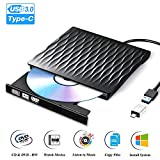 Lecteur DVD Externe USB 3.0 Type C Dual Port Graveur DVD Externe Portable Lecteur...