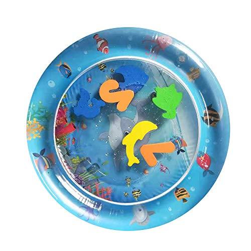 Festnight PVC Garten Sprinkle Splash Spielmatte Aufblasbare Wasser Spray Matten Kinder Baby Pool Pad Sommer Spaß Strand Im Freien Mini Pool -