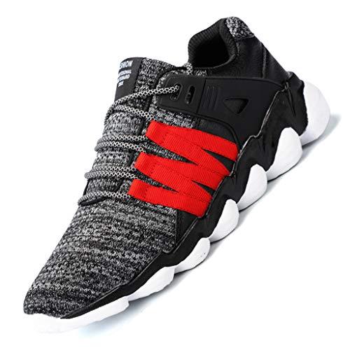 rnschuhe Neutral- und Straßenlaufschuhe Sneaker Walkingschuhe Running Sportschuhe Breathable rutschfeste Sport-athletische gehende laufende Schuh-Turnschuhe der Art und Weise ()