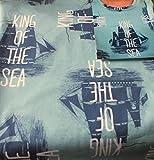 Hilco Baumwoll Jersey Pirate Ship grün blau Schiff Pirat