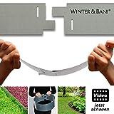 Winter & Bani Rasenkanten, 3 Stück, Metall, Gesamtlänge zusammengesteckt 3 Meter, Stabil Aber biegsam - jetzt Video-Anleitung ansehen