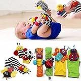 Cido 1 Paar Baby Infant Kinder Weiche Hand Handgelenk Band Entwicklungsgurt Baumwolle Niedliche Mode Spielzeug Tier GLOC